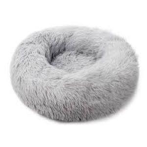 Marshmallow Donut Cat Pet Bed Light Grey XL